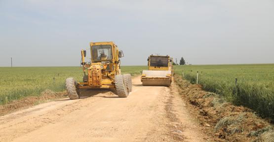 Ceylanpınar kırsalında asfalt öncesi son dokunuşlar