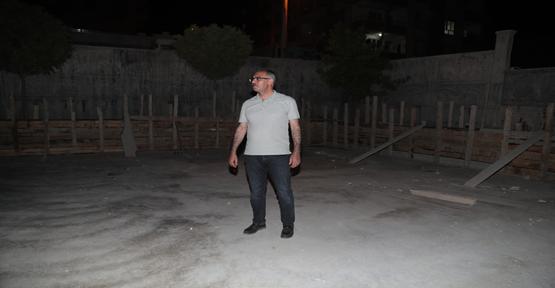 Başkan Kuş, Kapalı semt pazarı yapımını yerinde inceledi