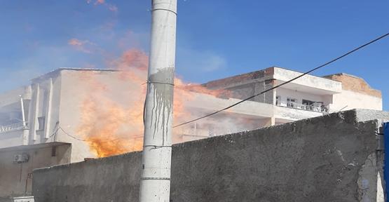 Şanlıurfa'da odunluk yangını