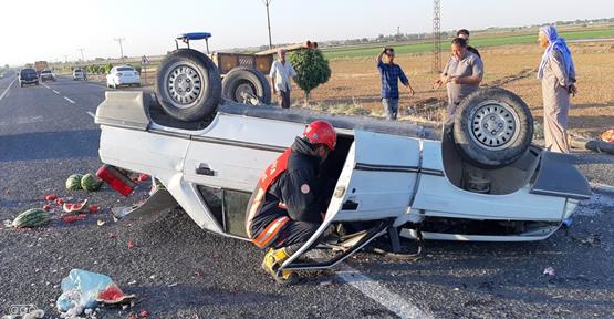 Şanlıurfa'da sıkışmalı trafik kazası: 2 yaralı