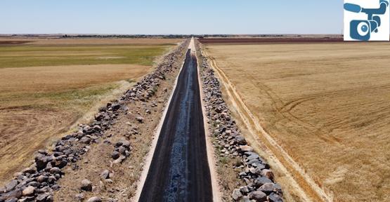 Siverek kırsalında asfalt çalışmaları