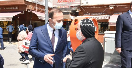 Vali Erin, Metropolit F. Saliba Özmen'i Kabul Etti