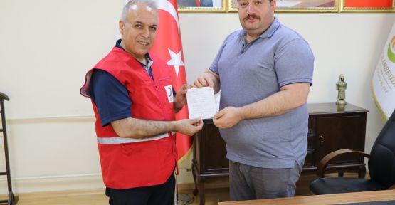 Başkan Ekinciden Türk Kızılay'a Kurban Bağışı