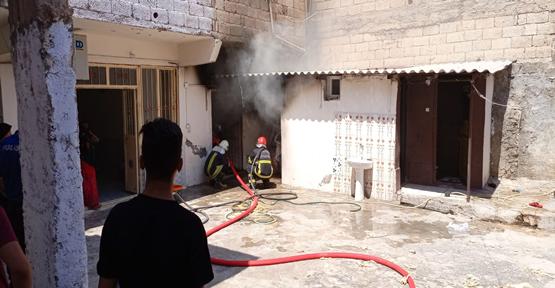 Şanlıurfa'da elektrik kontağı yangına neden oldu