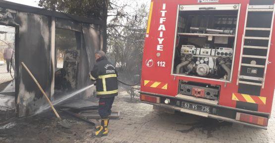 Şanlıurfa çadır kentte yangın çıktı