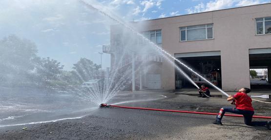 Şanlıurfa'da  İtfaiye Erlerine yangın eğitimi