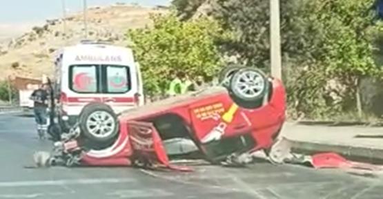 Şanlıurfa'da otomobil kontrolden çıkarak takla attı