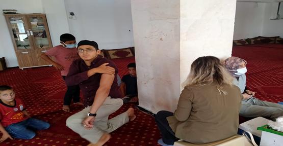 Şanlıurfa'da Camide anonsla aşıya davet ettiler