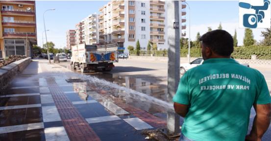 Hilvan'da cadde ve sokaklar pırıl pırıl