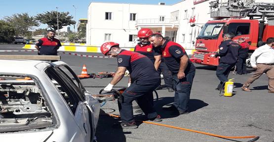 Şanlıurfa'da gerçeği aratmayan trafik kazası tatbikatı