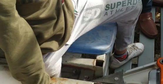 Şanlıurfa'da öğrencinin ayağı demir mazgala sıkıştı