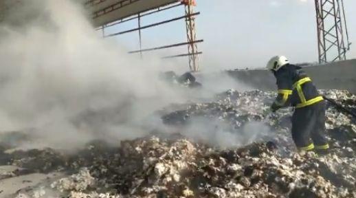 Şanlıurfa'da pamuk yangınları başladı