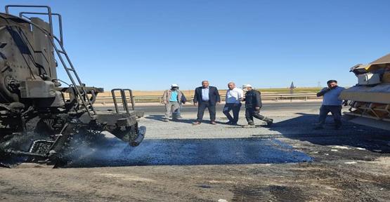 Viranşehir Belediyesinden asfalt yol çalışmaları son sürat devam ediyor