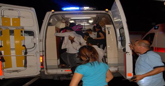 Otobüs devrildi; 1 Ölü 41 Yaralı