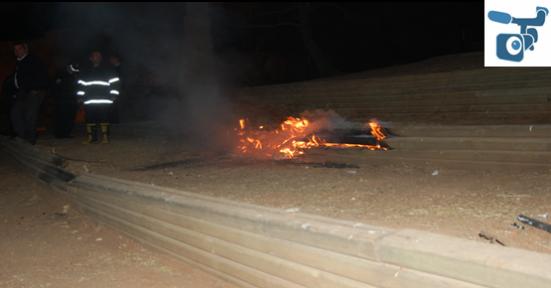 Şanlıurfa kalesinde yangın