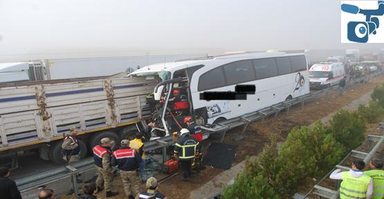 Şanlıurfa'da 2 trafik kazası 2 ölü 20 yaralı