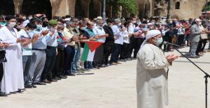 Urfada Filistin için gıyabi namazı...