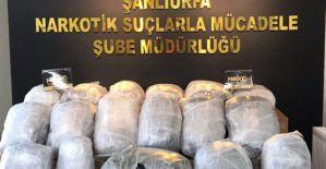 Şanlıurfa polisi uyuşturucu kaçakçılarına büyük darbe vurdu.