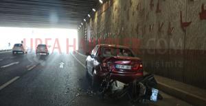 Urfa#039;da motosiklet otomobil çarptı