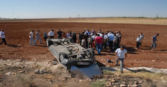 Urfa'da Araç devrildi: 5 yaralı